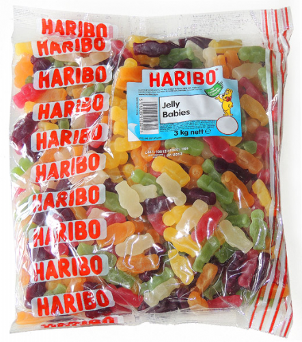 Q13  HARIBO JELLY BABIES 3kg
